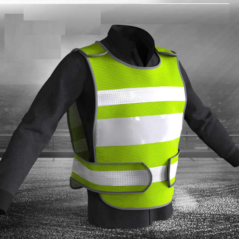 SPARDWEAR Fluorescent yellow vest with free printing logo safety vest reflective customize Support customization