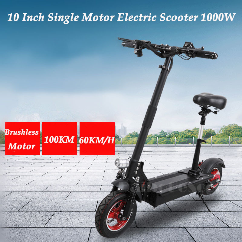 UBGO Foldable Electric Scootor 10 Inch with 1000W Brushless Motor 48V Single Driver Electric Bike for adult