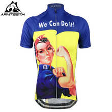 Hot Sale We Can Do It Breathable Cycling Womens Jersey Mtb Shirts Anti-sweat Bicycle Clothing Quick Dry Polyester