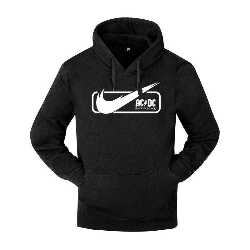 Brand AC DC Hoodie Men Hip Hop Rock Band ACDC Back In Black Sweatshirt Male Casual Streetwear Jacket Hoody Sweatshirts Men Women