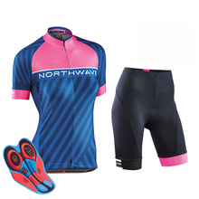 ffc510f9c NW 2019 New Pro Women short sleeve summer Cycling Jersey clothing  Breathable cycling clothes Warm Bib