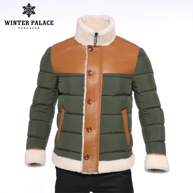 2018 зимняя пуховая куртка ArmyGreen куртка-пуховик мужчины высококлассные зимняя куртка мужская мода мужчины пуховая куртка зимние мужские