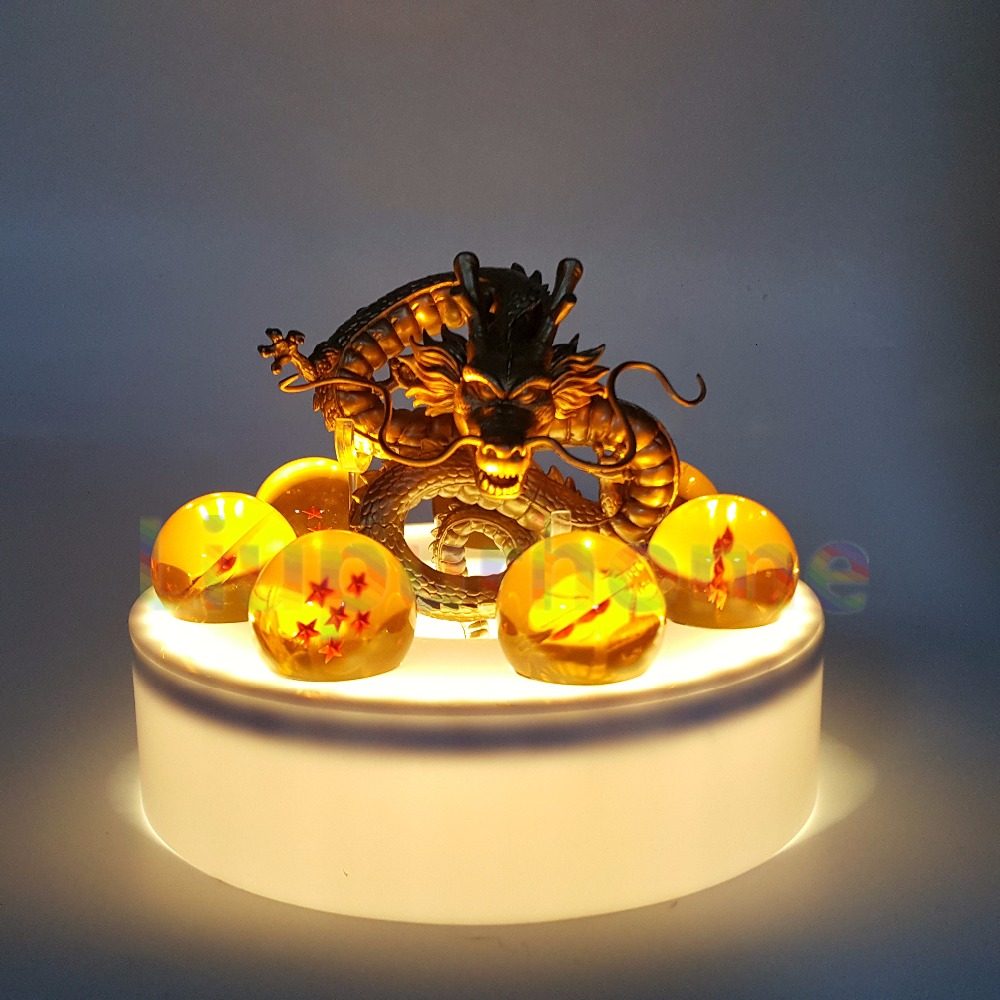 Anime Dragon Ball Z Golden Shenron Crystal Ball Led Set Dragon Ball Super Son Goku DBZ Led Lamp Night Lights Xmas Gift anime dragon ball z golden shenron crystal ball led set dragon ball super son goku dbz led lamp night lights xmas gift