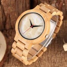 979b47c1b24 2017 New Bamboo Madeira Natureza Homens Novos Relógios de Quartzo Simples  Mulheres Fresco Moda Artesanal relógio de Pulso Criati.