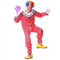 Fun Men Cosplay Halloween Carnival Costumes Funny Circus Clown Costume Masquerade Fancy Cosplay Clothes