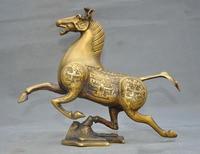 Рождество 10 Китайский Бронзовый успех счастливый Зодиак животное лошадь конь война Лошадь статуя Хэллоуин