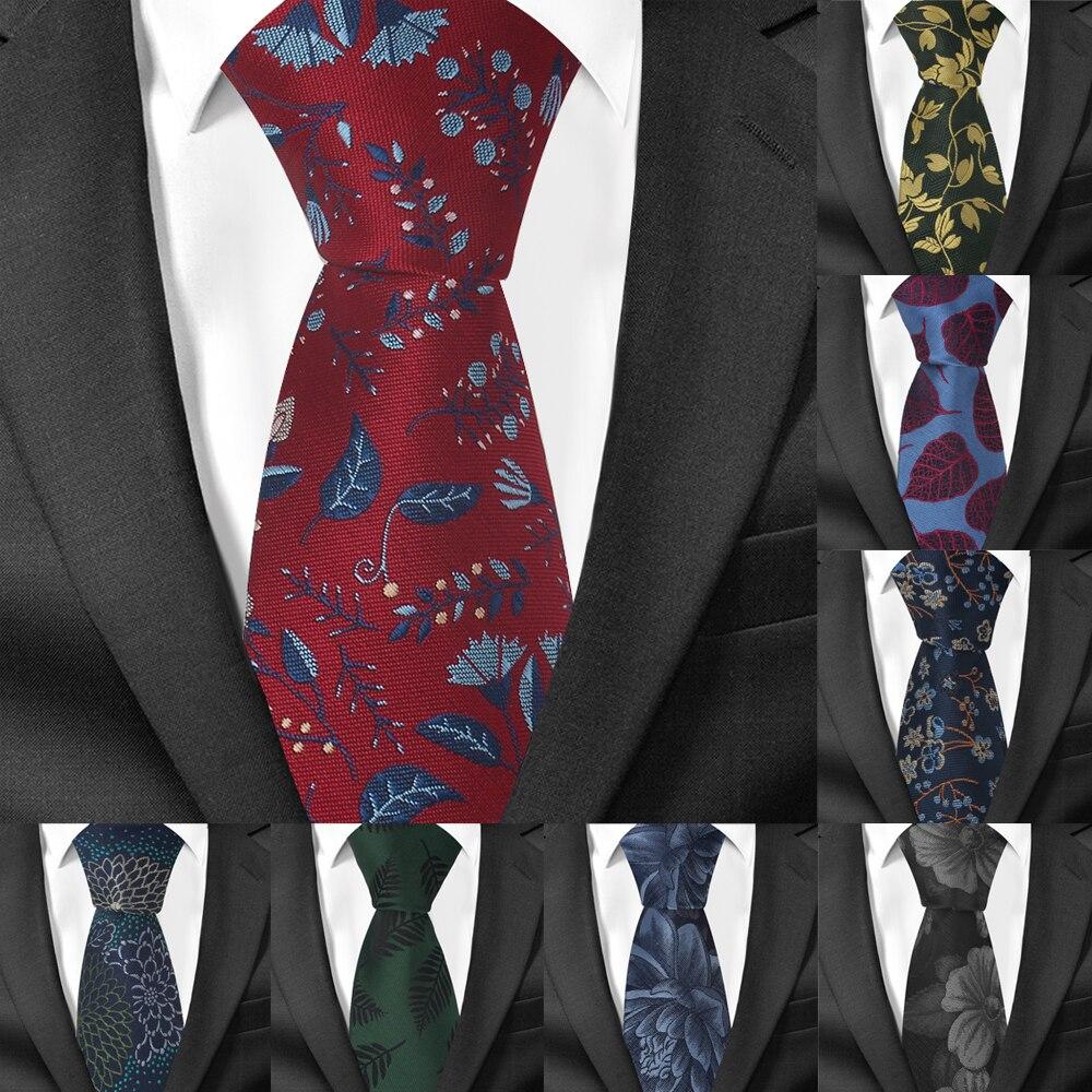 Fashion Jacquard Men Ties Business Floral Necktie Gravata Wedding Groom Neck Tie Cravat Polyester Woven Necktie For Men
