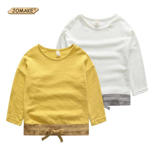Patchwork de Manga Longa Crianças Camisetas Para Meninos O Pescoço Crianças Encabeça Outono 2016 Meninos Da Criança Bonito Roupas Casuais Meninos T-Shirt