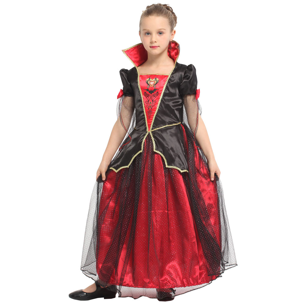 Transylvanian Vampiress Child Vampire Costume for Girls Halloween Purim Carnival Party Mardi Gras Fancy Dress