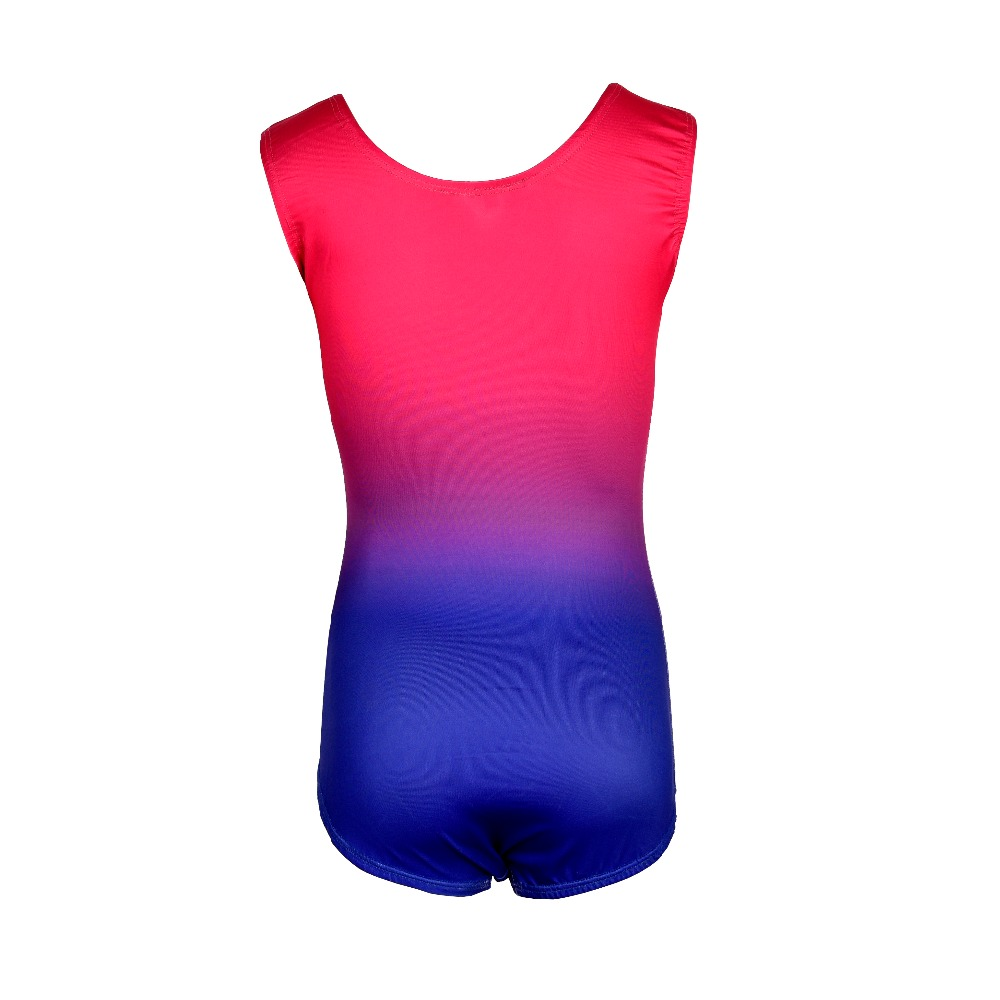 7ece2e3883a8 2019 Kid Child Rhythmic Gymnastics Leotard For Girl Gradient Rainbow ...