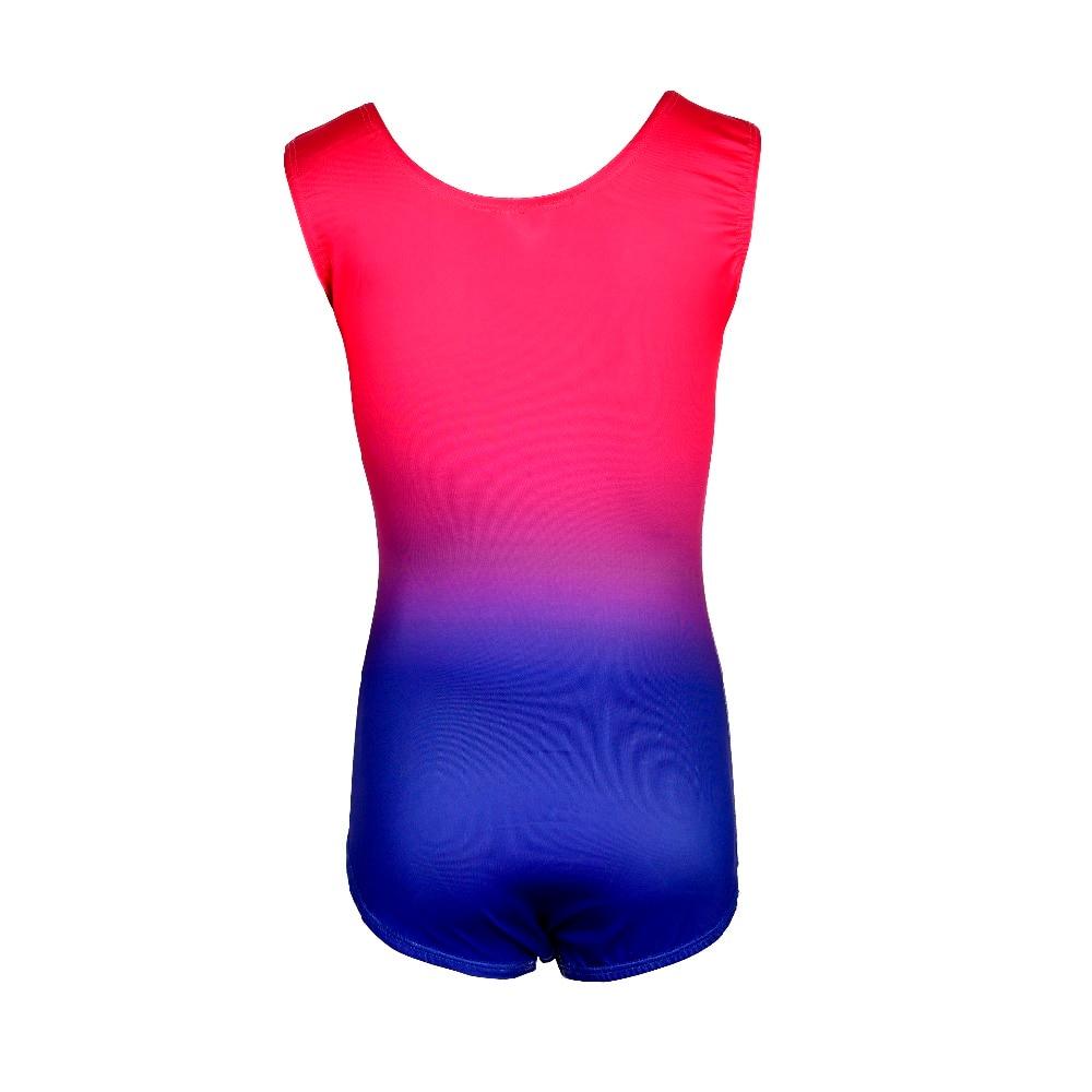 3625069014c6 2019 Kid Child Rhythmic Gymnastics Leotard For Girl Gradient Rainbow ...
