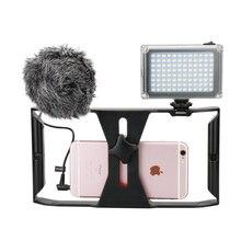 Ulanzi Smartphone Video estabilizador Kit con 96 Luz de vídeo Led w batería y Boya BY-MM1 micrófono para iPhone Samsung xiaomi