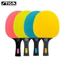 Stiga 純粋な色事前シリーズ卓球ラケット 5 プライ二重にきびインラバー卓球ラケット