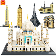 Wange World Great Architecture Large Building Blocks Set City London Paris New York Toys Brick Compatible legoingly taj mahal