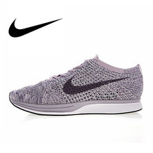 008ecf167415 Nike Flyknit Racer Men s Running Shoes Breathable Sport Outdoor Sneakers  Good Quality Footwear Designer Athletic 2018