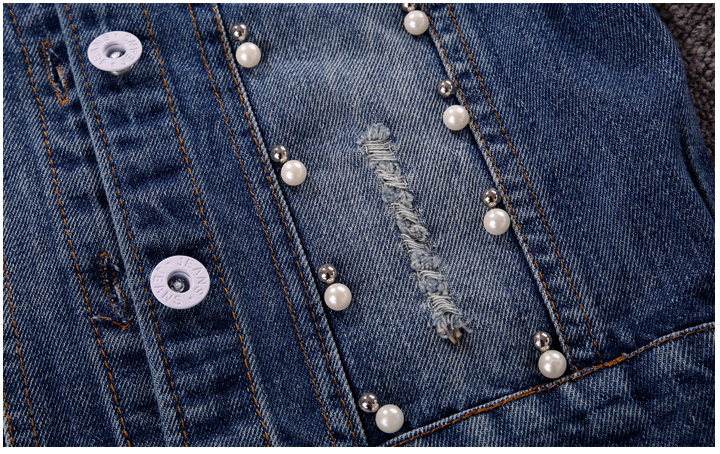 Jackets Girls Denim Jacket Cardigan Coat kids Jeans Outerwear Butterfly Embroidery Sequins Children Clothing Spring Kids Clothes in Jackets Coats from Mother Kids