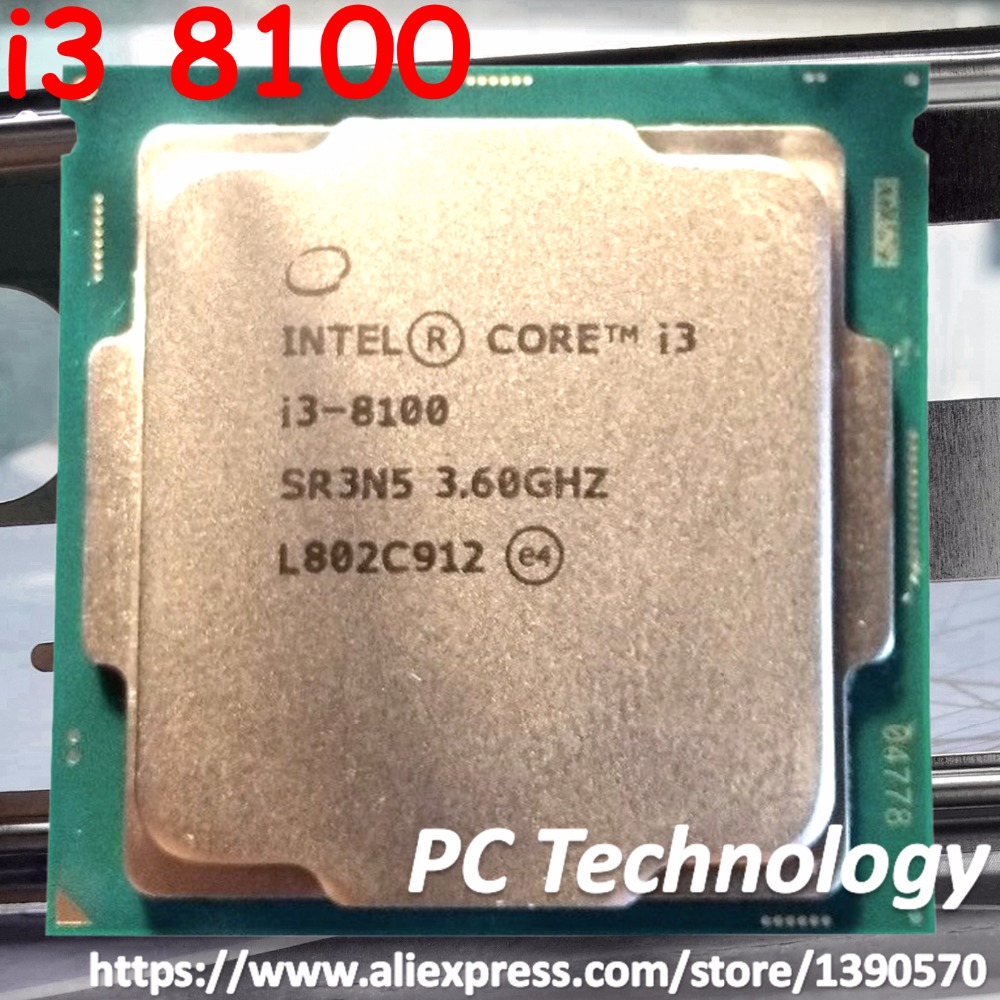 Original Intel Core i3 8 series Processor I3 8100 I3 8100 3 6GHz 6M LGA1151 14nm