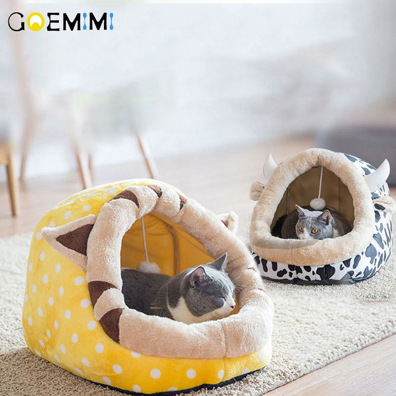 2019 Dog House Cow Shape For Large Small Dogs Tent High Quality Cotton Cat Bed Puppy Pet Product