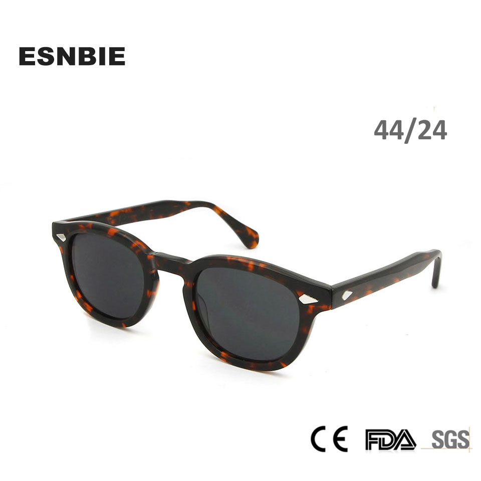 3a1c29ae4 ESNBIE Acetato Óculos De Sol Dos Homens Rodada Tons Rebite Retro Pequenos  Óculos de Sol Das Mulheres Da Marca Oval Do Vintage Designer de Óculos De  Sol ...