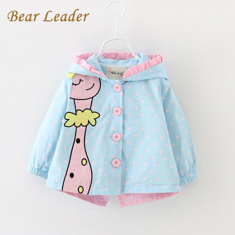 Bear Leader Baby Jackets Autumn Kids Coats Jackets Clothing Baby girl Clothes Cartoon Coats dots hooded Children Outerwear&Coats