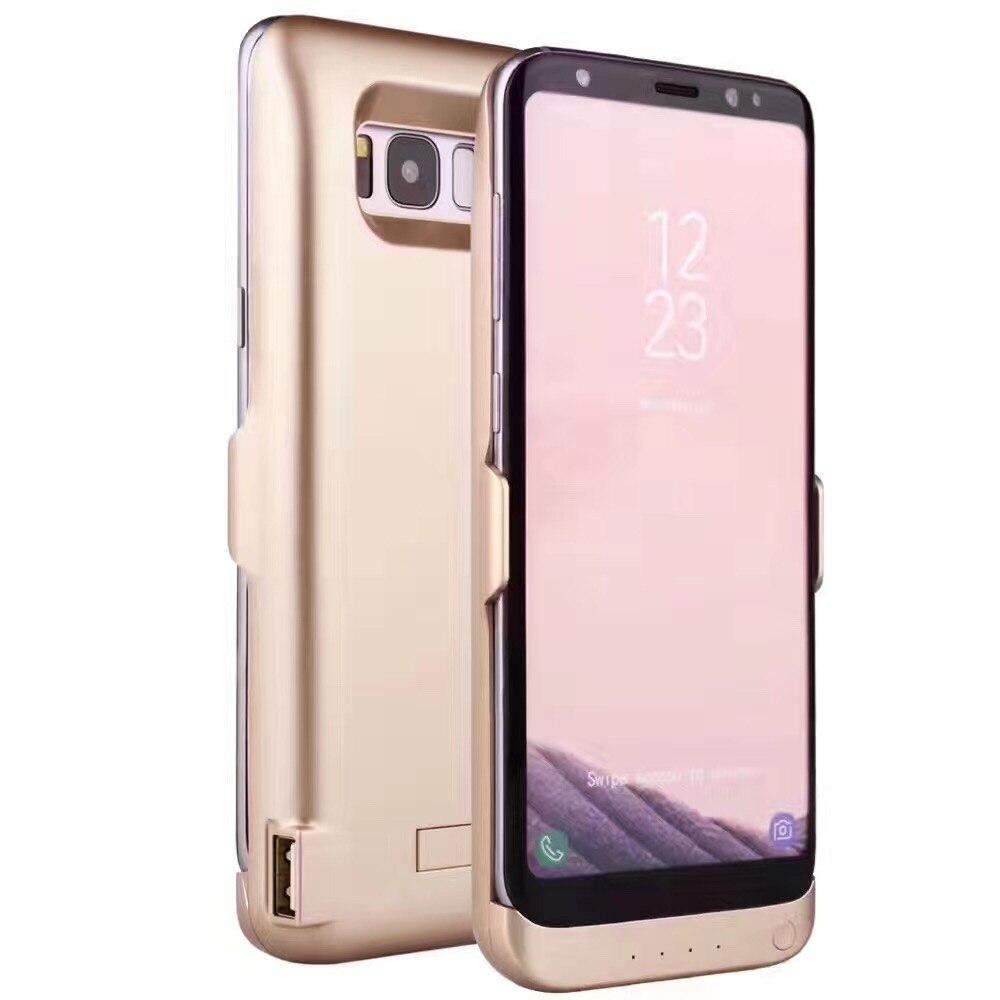 bilder für Mellid Für Samsung S8 S8 Plus Ladegerät-fall Fall Batteriekasten Pack Drahtlose Energienbank 5500 mAh/6500 mAh