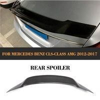 سبويلر خلفي للسيارة مرسيدس بنز W218 CLS63 AMG سيدان 2012-2017 CLS350 CLS400 CLS500 CLS550 مُفسدة من ألياف الكربون