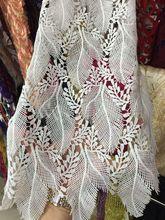 Beyaz kimyasal kord dantel kumaş gipür dantel kumaş LJY 72410 düğün için