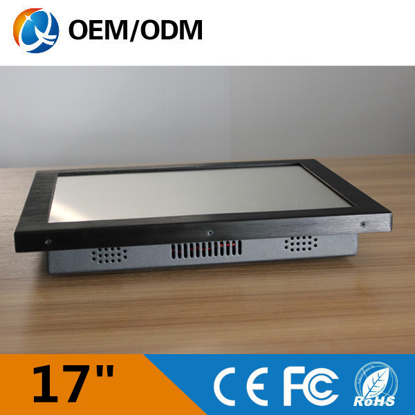 OEM 17 fanless noiseless industrial all in one panel pc Inter j1900 Resolution 1280x1024 tablet pc with 2GB RAM 32G DDR3