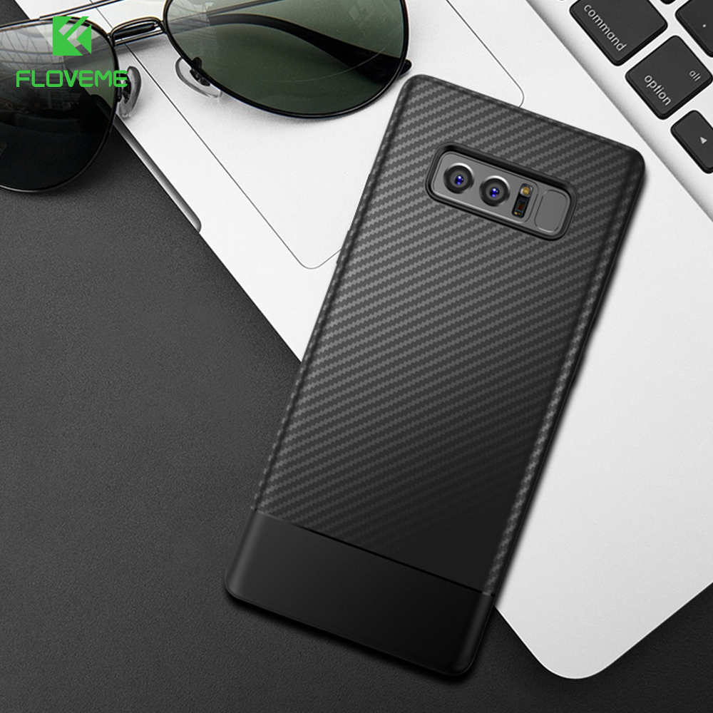FLOVEME Phone Case For Samsung Galaxy Note 8 For Samsung Galaxy S8 S8 Plus Cases Carbon Fiber Soft TPU Shell Mobile Accessories