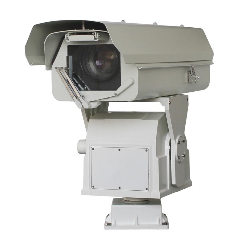 Cabezal láser de servicio pesado integral, cámara PTZ de larga - Seguridad y protección