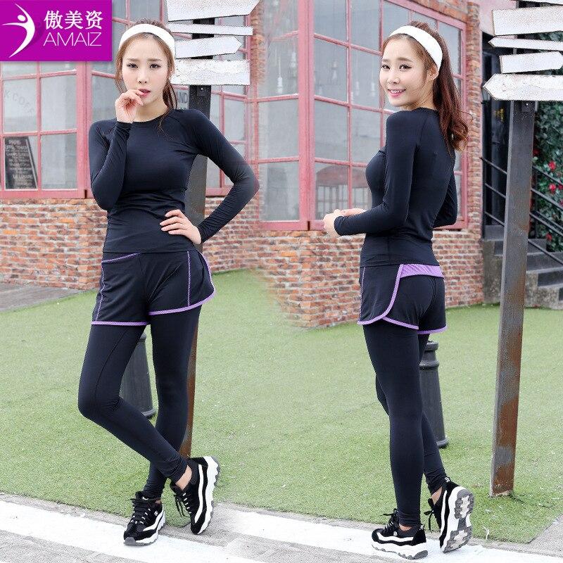 Women font b Yoga b font font b Sets b font Fitness Clothing Sport Suit font