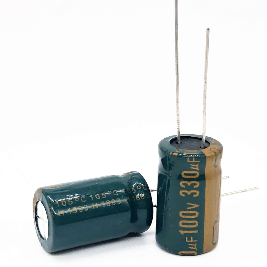 5pcs/lot High Frequency Low Impedance 100V 330UF 13*20 20% RADIAL Aluminum Electrolytic Capacitor 330000nf 20%