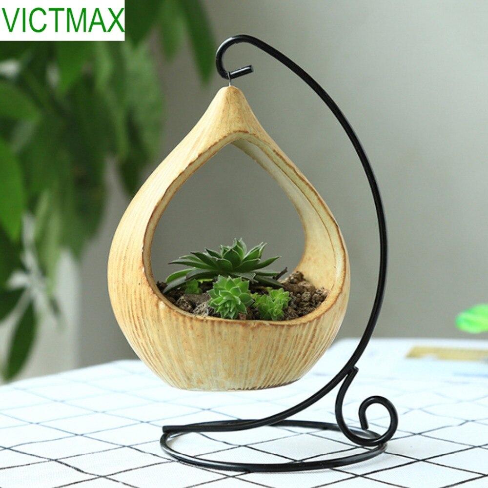 VICTMAX Micro Landscape Geometry Succulent Planter Pots Office Home Decoration Garden Flower Pot