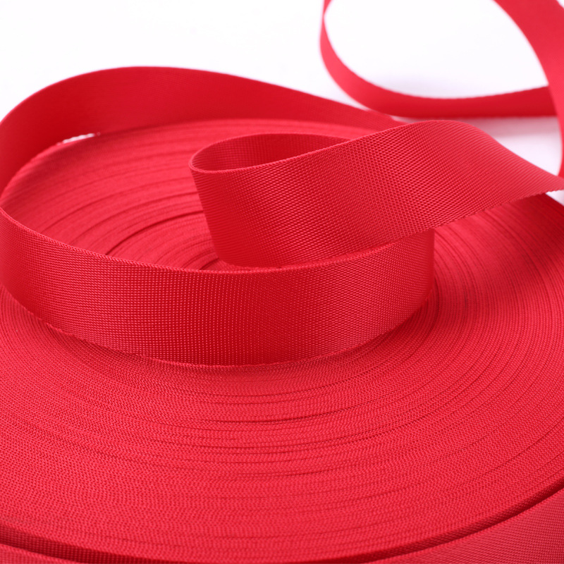 25mm*50yards red black nylon woven webbing band for bags Sewing Webbing
