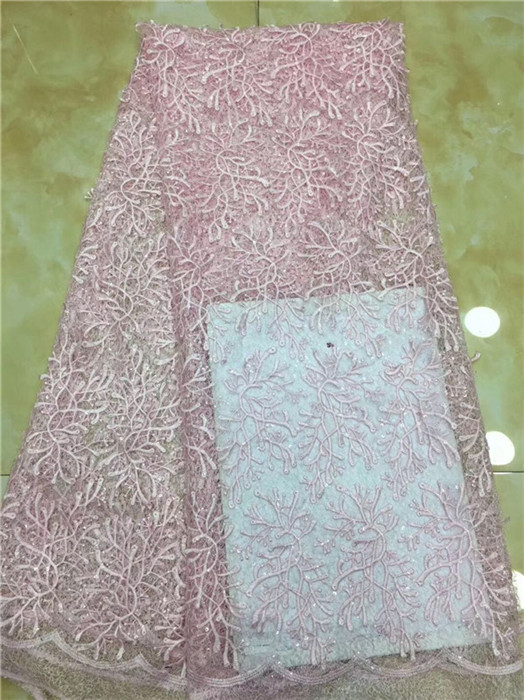 Partito popolare del ricamo del panno di maglia tessuto a rete Francese per il vestito da modo PDN254 (5 yards/lotto) multi colore-in Pizzo da Casa e giardino su  Gruppo 1
