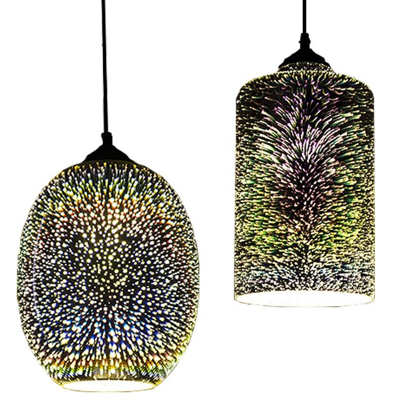 With Free LED Bulb 3D glass nordic hanging lights dining/living room bar restaurant pub decor modern pendant lights AC 110V 220V