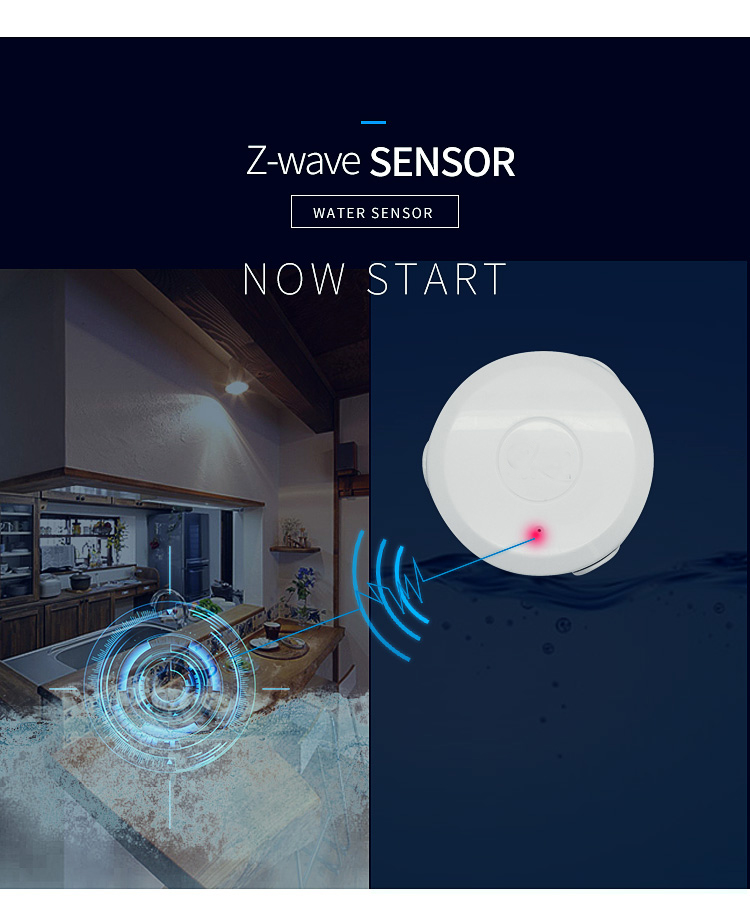 YobangSecurity Z-wave Plus Flood Water Leak Alarm Sensor APP Remote Control Water Leakage Sensor Detector Alarm Home Automation цена