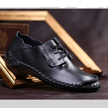 British Style Classic Genuine Leather Shoes Men Extra Large Size Shoe Personality City Walking Cool Big Tide Plus