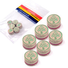 6pcs/set Cuesoul 14mm Soft Baked Pig Leather Billiard Pool Snooker Cue Tips, High Quality and Free Shipping
