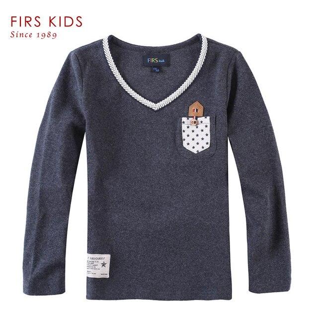 FIRS KIDS Cotton long sleeve children t shirts kids tshirt Boys T Shirt Autumn Spring Tops & Tees New 2016