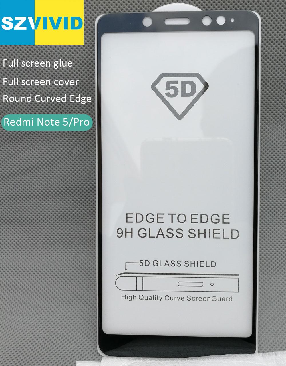 Full Screen Panel Kleber Abdeckung Schutz Ausgeglichenes Für Xiaomi Redmi Hinweis 5 Pro Note5 2.5D Cruved oleophobe Hohe qualität