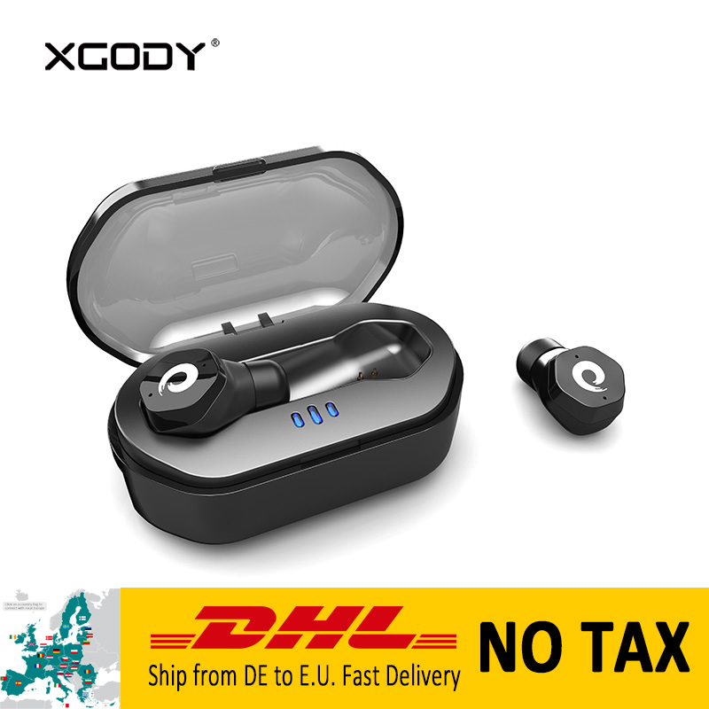 XGODY F8 In-Ear Bluetooth Earpods Wireless Earphone with Mic Handsfree Bluetooth Earphones for Phone Auriculares Inalambrico you first in ear earphones ear hook wireless bluetooth earphone hands free with microphone for mobile phone iphone6 s 7 plus
