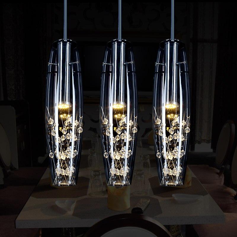 European Crystal LED Pendant Lights Modern Creative Dining Room Pendant Lamp For Bedroom Bar Cafe Restaurant AC 110-220V цена