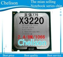free shipping CPU x3220 CPU 2.4GHz/ LGA 775 /8MB L2 Cache/quad-CORE/105W Processor