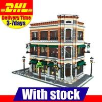 IN Stock LEPIN 15017 4616Pcs City Street Creator Starbucks Bookstore Cafe Model Building Kit Puzzle Blocks