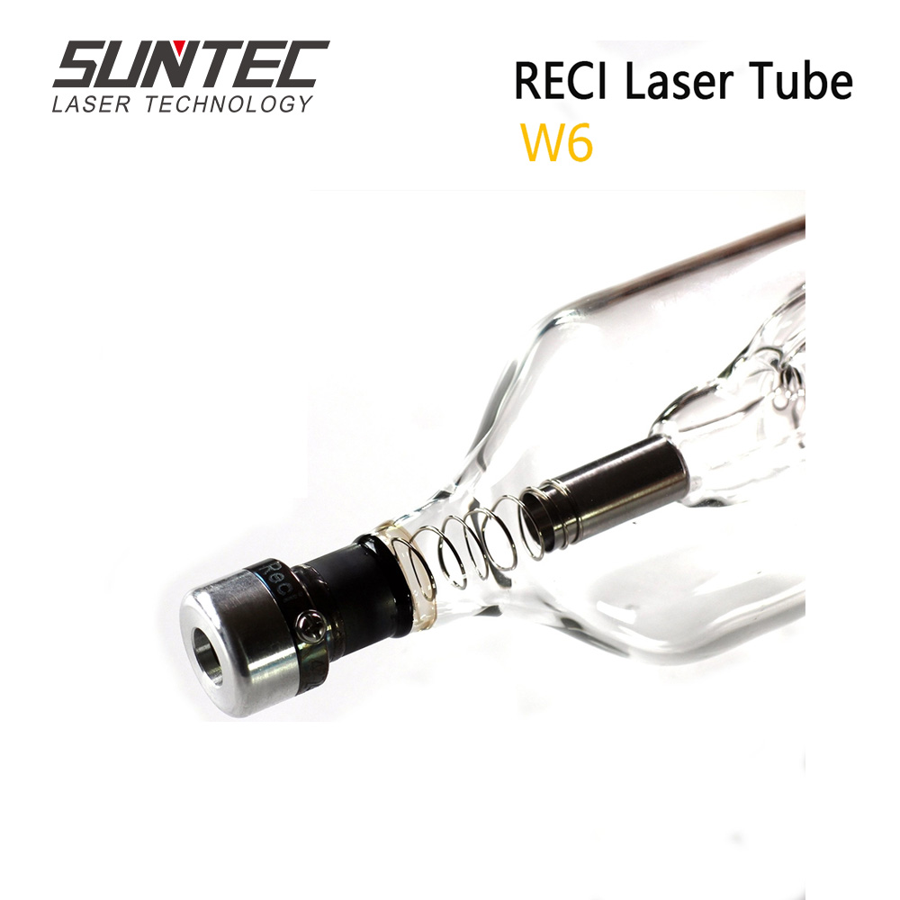 Tubo 130 w do laser do co2 de suntec reci w6-160 w para o comprimento 1650 diâmetro da máquina de corte da gravura do laser do co2. 80mm com embalagem de madeira da caixa