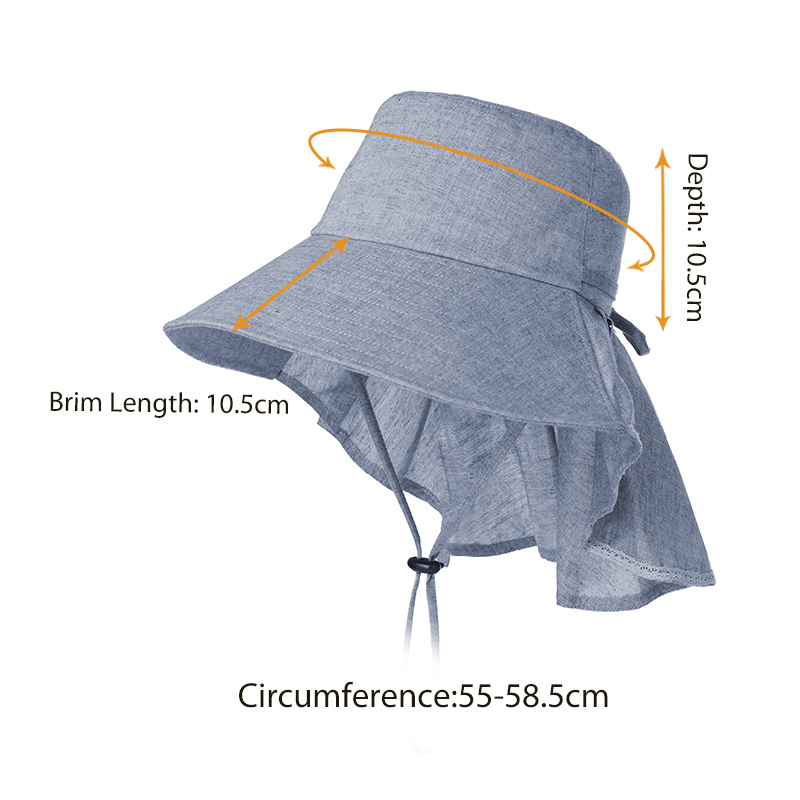 759486c254c SIGGI Summer Vintage Bucket Hats For Women Solid Ponytail Adjustable  Windproof Chin Cord Detachable UPF50+ UV Female 99035-in Bucket Hats from  Women s ...