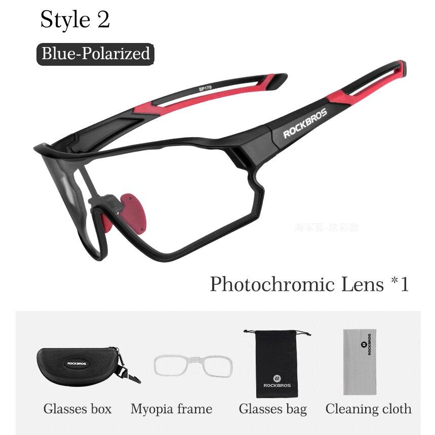 ROCKBROS lunettes de soleil cyclisme hommes femmes lunettes de vélo polarisées 5 lentilles photochromiques vtt route lunettes de vélo Sports de plein air lunettes