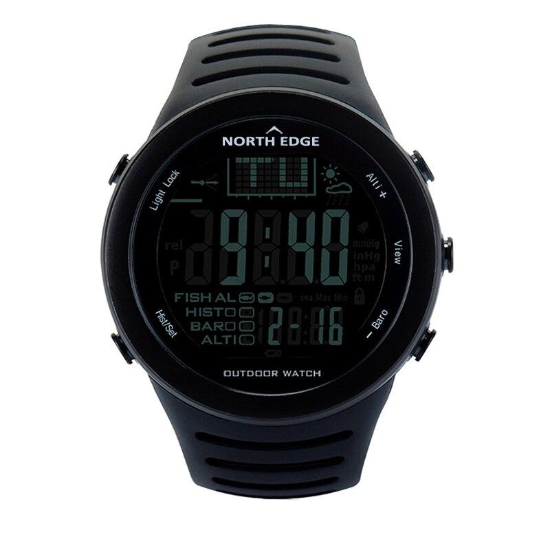 NORTHEDGE hommes montres numériques montre d'extérieur horloge pêche météo altimètre baromètre thermomètre Altitude escalade randonnée heures - 2