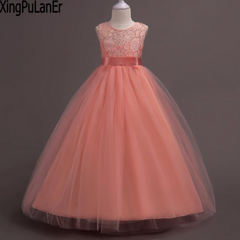 XingPuLanEr   Flower     Girl     Dresses   Princess For Weddings Butterfly Embroidery Kids   Dress     Girl's   Pegeant Meninas Child   Dress